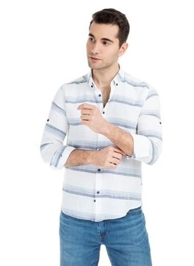 Manche Gömlek Beyaz